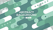 Abstract geometric background. Dynamic shapes composition. Simple modern design. Futuristic banner, poster, flyer, cover template. Flat style vector eps10 illustration. Green and white color.