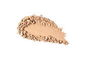 Face powder swatch isolated on white