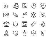 set of hospital icons, medical, disease, health, doctor, treatment, nurse, doctor
