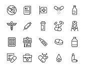 set of medicine icons, pharmacy, medical