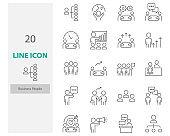 set of people icons, work, team, teamwork