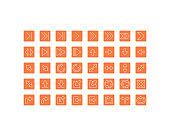 set of arrow thin line icons, 256x256 px