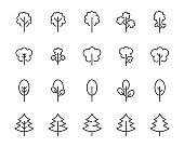 set of tree icons, forest, nature