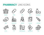 set of medicine icons, medical, pill, pharmacy, capsule