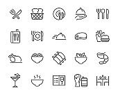 set of restaurant, icons, food, menu, drinks, chef