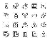 set of medicine icons, pharmacy, drug store, capsule