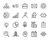 set of business icons, startup, work, success