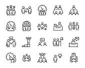 set of work icons, job, working, management, skill, business