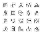 set of hospital icons, medical, treatment, doctor, nurse