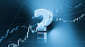 Question Mark Sitting in Front of Bar Graph - Stock Market and Finance Concept