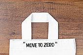 Move to Zero waste. Textile eco bags