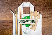 Move to Zero waste. Textile eco bag.