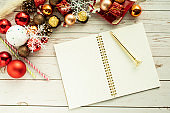 A note in the background of a Christmas image