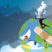 planet earth sick from pollution
