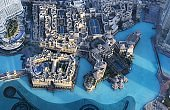 Aerial view of the downtown of Dubai