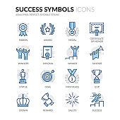 Line Success Icons