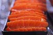 Sushi Close up at Restaurant
