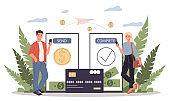 Payment transfer vector illustration