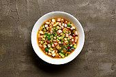 Cold russian soup Okroshka