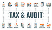 Auditing, Tax, Accounting Banner