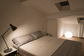 white design bedroom in a modern house