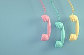 Hanging Old Telephone Handset Background