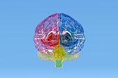 Brain Transparent, Artificial Intelligence Concept