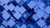 3D Abstract Square Shape Pattern Background