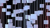 Abstract Flying Cube Shapes Background