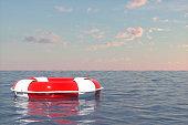 Lifebuoy On The Sea