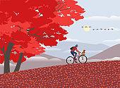 가을 호수 공원