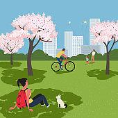 봄, 그리고 벚꽃