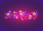 Vector Balloon Background, color trend 2020, pink, purple and blue