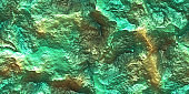 Yellow Gold Painted Cliff Glows Texture. Metallic Ore Sparkles Backdrop. Shine Stone Mineral Surface. Metal Paint Rock Shining Background.