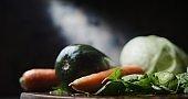 Fresh vegetables fop preparing soup or pickles. Close-up