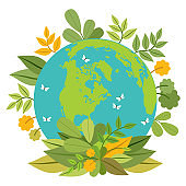 Ecology concept. Green planet. Earth day.
