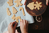 Baking christmas gingerbread cookies. Home cooking