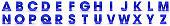 alphabet letters blue 3d signs A B C D E F G H I J K L M N O P Q R S T U V W X Y Z