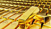 Pure gold Business concept of gold trading in the stock market