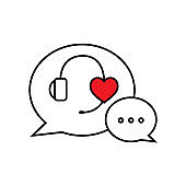 Live chat speech bubbles concept icon isolated from white background