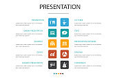 presentation Infographic 10 option concept. lecturer, topic, business presentation, diagram simple icons
