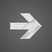 arrow sketch logo doodle icon