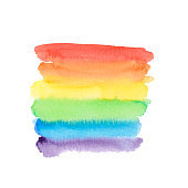 Watercolor rainbow background. Abstract painting background.