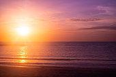 most beautiful sea beach sunset twilight sky nature background