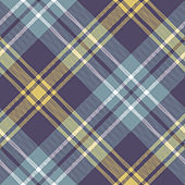 Seamless plaid pattern texture. Herringbone check plaid in purple, grey blue, and yellow for autumn scarf, blanket, throw, duvet cover, or other modern textile print.