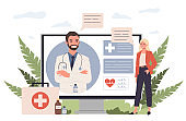 Patient consulting doctor online