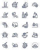 Spa salon icons set