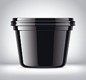 Plastic Container on Background.