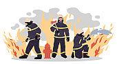 Firefighters illustration