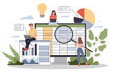 Accounting report illustration